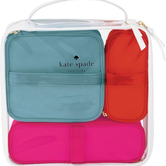 4ccaf080b2da kate spade Handbags - Kate Spade 4 Pc Cosmetic Bag Set